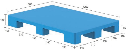 13S-128040-N4   Hygiene Plastic Pallet