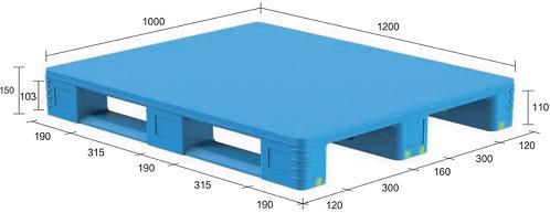 13D-121050-S4(A) | Pharmaceutical Plastic Pallet