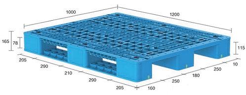 13H-121065-S4(B)   Heavy Duty Plastic Pallet