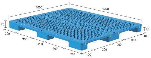 13M-121078-N4 | Heavy Duty Plastic Pallet