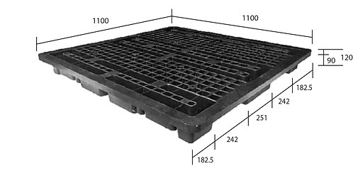 3C-111120-S2 | Cargo Plastic Pallet | One-Way Plastic Pallet