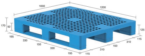13H-121070-S4(A) | Heavy Duty Plastic Pallet