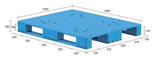 13S-151280-S4(B) | Hygiene Plastic Pallet