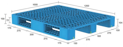 13H-121050-S4(A) | Heavy Duty Plastic Pallet