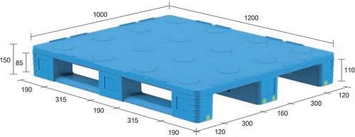13D-121050-S4(C) | Pharmaceutical Plastic Pallet