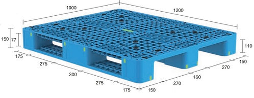 13H-121050-S4(B) | Heavy Duty Plastic Pallet