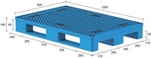 13M-128065-S4 | Heavy Duty Plastic Pallet