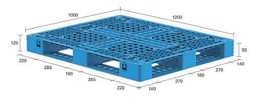 13H-121025-D4 | Heavy Duty Plastic Pallet
