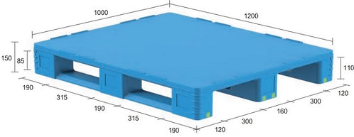 13D-121050-S4(D) | Pharmaceutical Plastic Pallet