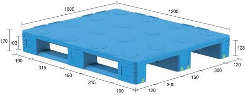 13D-121070-S4(C) | Pharmaceutical Plastic Pallet