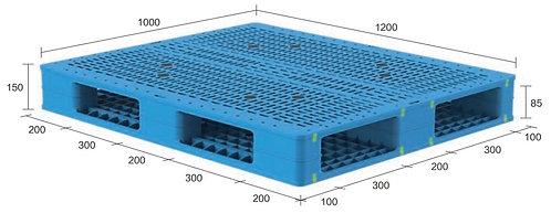 13H-121050-R4(A) | Heavy Duty Plastic Pallet