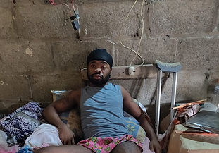 On our first trip into the impoverished village of Loma Bajita, we encountered Carlos. He is a young man that had his leg crushed and femur completely broken working on a construction site. He had no way of affording medical care nor surgery. Unfortunately, this is a very common injury in the Dominican Republic. Many people suffer trauma that they cannot afford to treat, so the wounds get worse until a broken leg turns into an amputation. These men can no longer work and provide for their families. In the most severe cases, these amputations become infected and end up causing gangrene and eventual death. We were lucky to find Carlos a month and a half after his initial injury. He was in immense pain, and the wound was infected, but we knew that if we could get him surgery right away, his leg would be saved. We reached out to our friends and family on social media for help to raise the money needed for his surgery, and they responded! Because of the positive response and huge hearts of our friends, we were able to pay for Carlos' surgery and post-operative care. He is doing very well in his recovery. His life is now completely changed thanks to the generous donations we received. Thank you to everyone who made this possible! We will continue to post updates along his road to recovery.   Update! Carlos is working so hard in physical therapy. We are so proud of him. Each day when we go to pick him up for therapy, he is early (which is rare for island culture) and so full of joy. He is getting stronger and more mobile. Carlos is sincerely grateful and feels indebted to us - we have assured him that, because of the love of Christ, his debt has already been paid. We will continue a relationship with him - we are excited about his future.