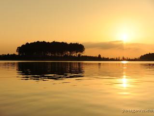 Hoàng hôn xuống trên hồ Đại Lải