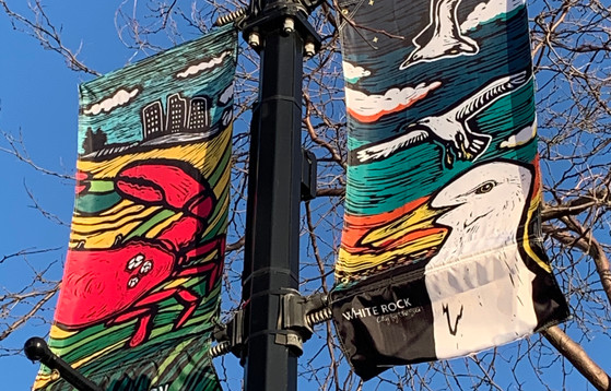 Crab and Seagull-Street Banner