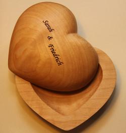 Herzschatulle groß mit Gravur