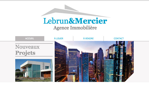 Immobilier website templates – Immobilier Propriétés
