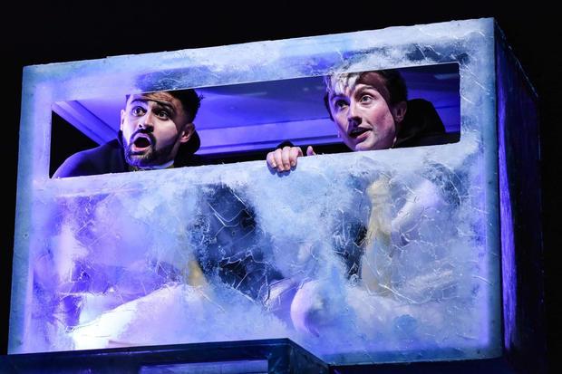 Penguins  Photo / Llun: Robert Day Performers / Perfformwyr: Dominic Coffey and Osian Meilir