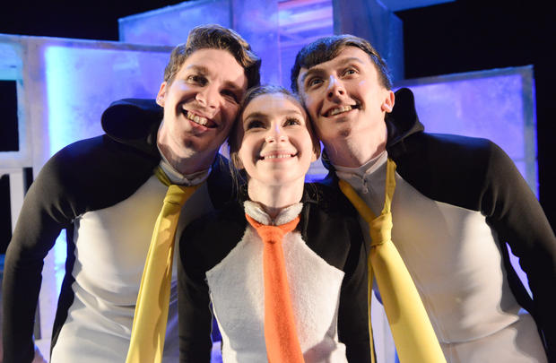 Penguins  Photo / Llun: Robert Day Performers / Perfformwyr:  Jack Webb, Corey Claire Annand and Osian Meilir