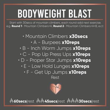 Bodyweight Blast Home Workout