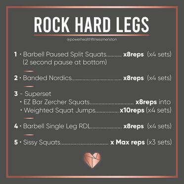 Leg Building Workout