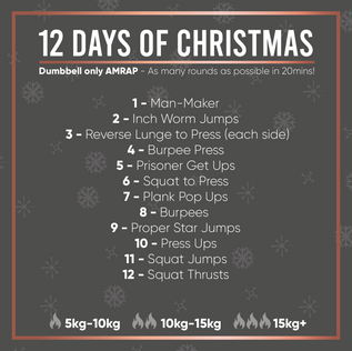 Christmas Dumbell Workout