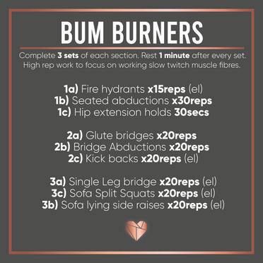 Bum Burner Workout