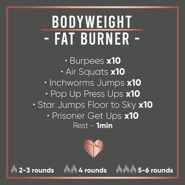 Bodyweight Fat Burner Workout