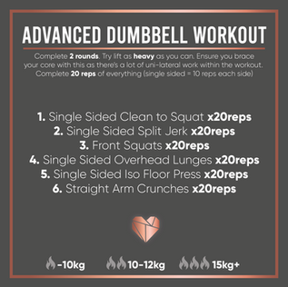 Advanced Dumbbell Workout