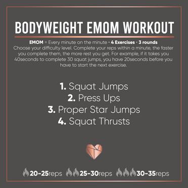 Bodyweight EMOM Fat Burner
