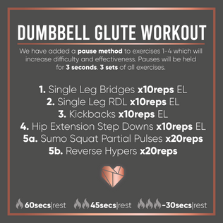 Dumbbell Glute Workout