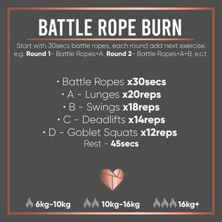 Battle Rope Fat Burner