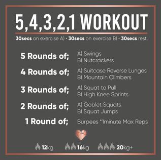 Kettlebell 5,4,3,2,1 Workout