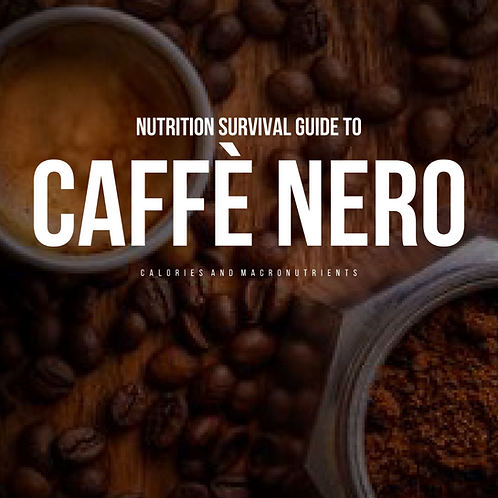 Caffe Nero Nutritional Guide