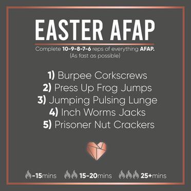 Easter AFAP Fat Burner