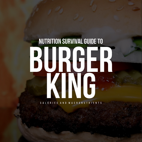 Burger King Nutritional Guide