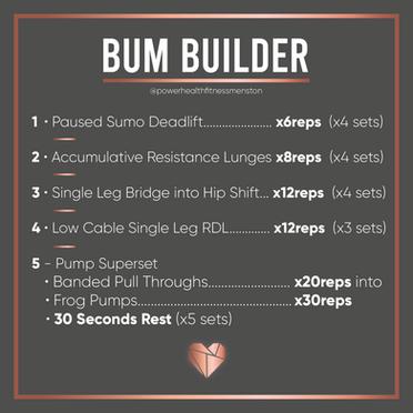 Bum Builder Workout