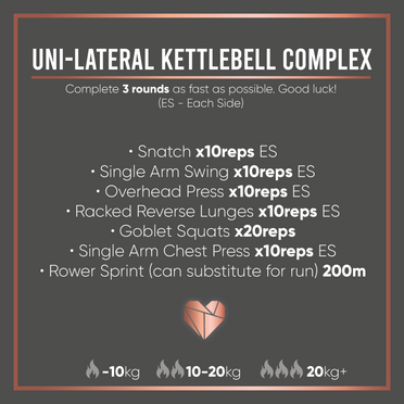 Uni-Lateral Kettlebell Complex