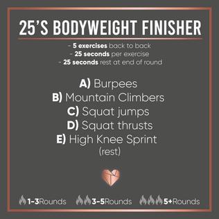 Bodyweight Fat Burning Finisher