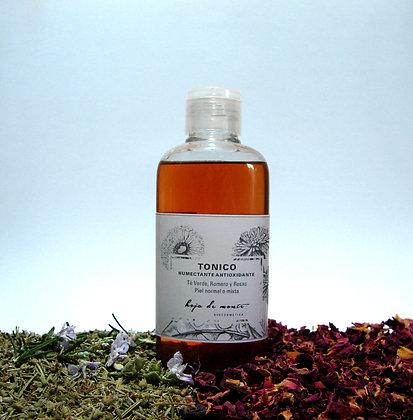 Tónico humectante antioxidante piel normal a mixta. Romero, Te verde & Rosas