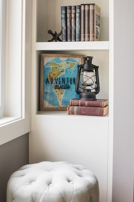 Office Bookshelf Nook