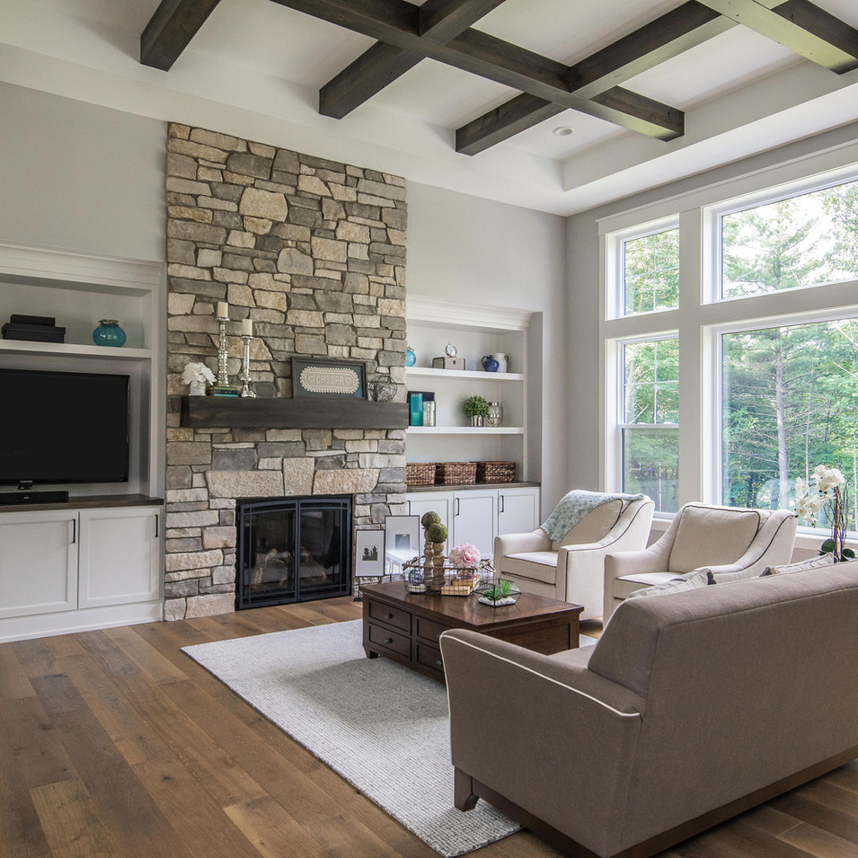 Living Room Fireplace and Built-ins