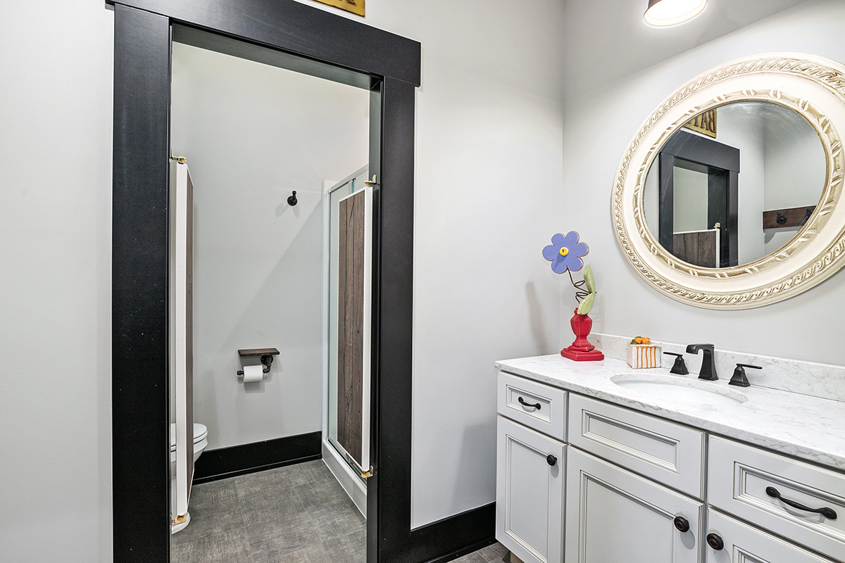 Jamestown Modern Farmhouse Guest Bathroom