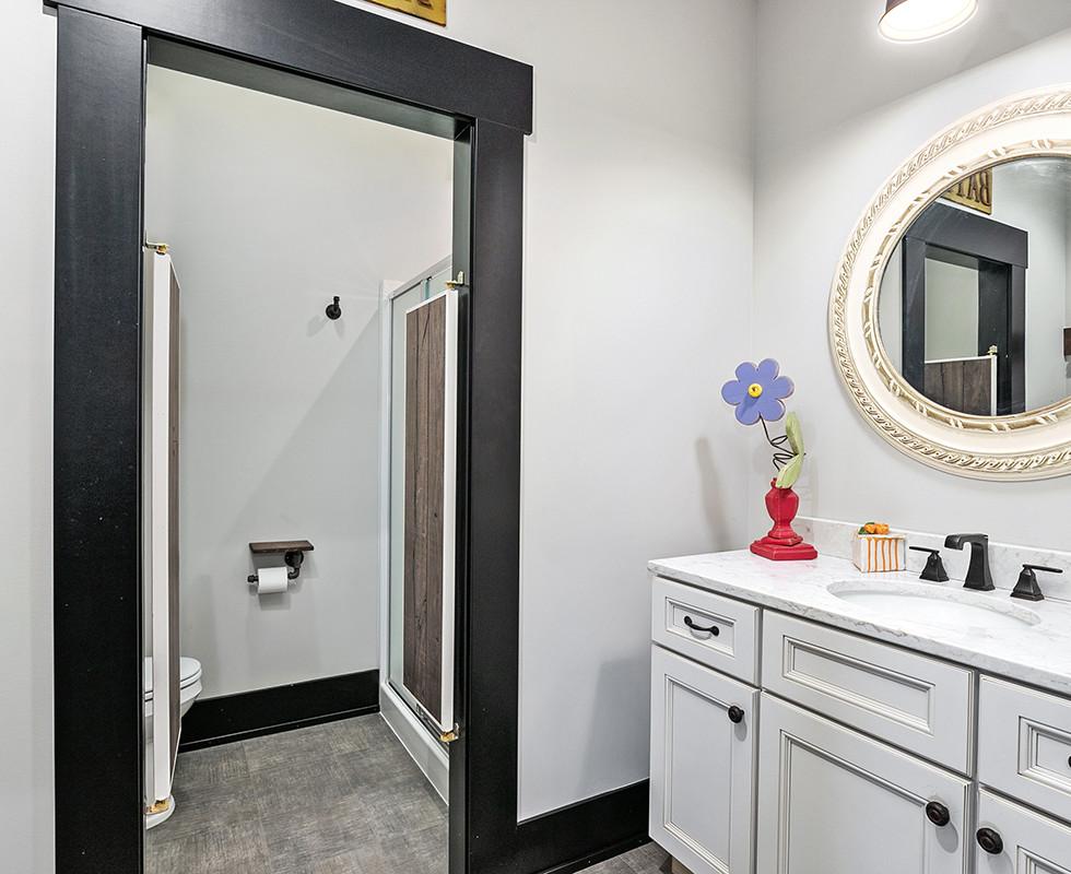 Jamestown Modern Farmhouse Guest Bathroom