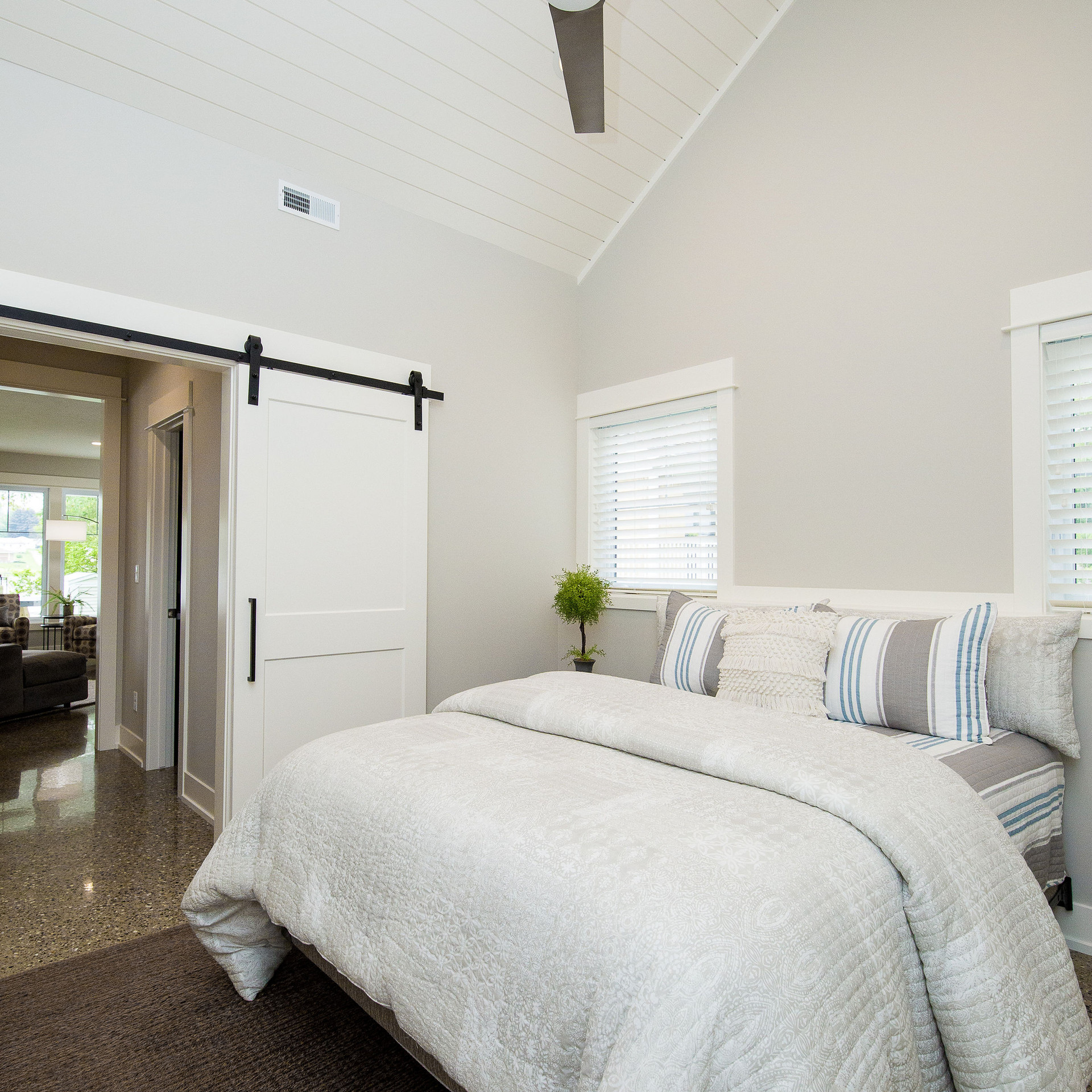 Vaulted Bedroom Ceiling