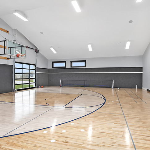 Jamestown Modern Farmhouse Basketball Court