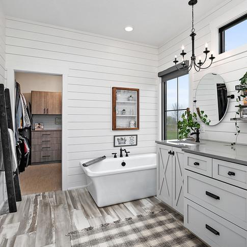 Jamestown Modern Farmhouse Master Bathroom