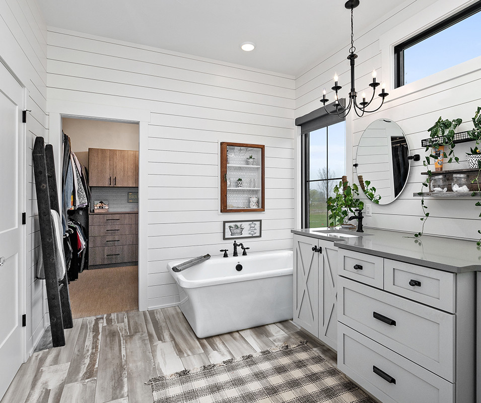 Jamestown Modern Farmhouse Master Bathroom