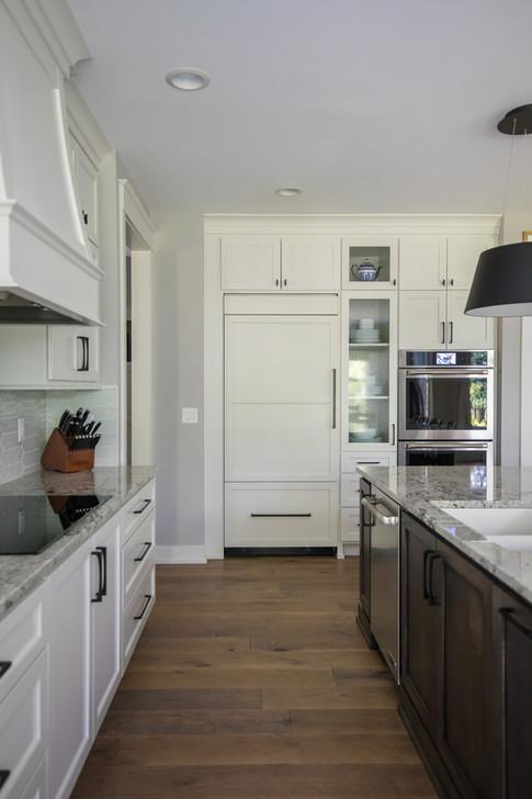 Refrigerator Panel Custom Cabinetry