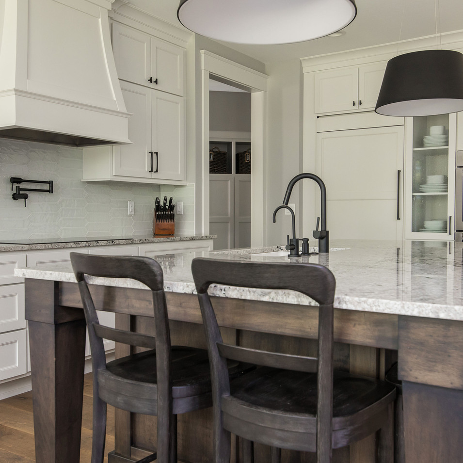 Custom Kitchen and Stained Island