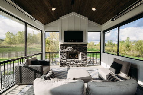 Screened Porch with Infrared Heat